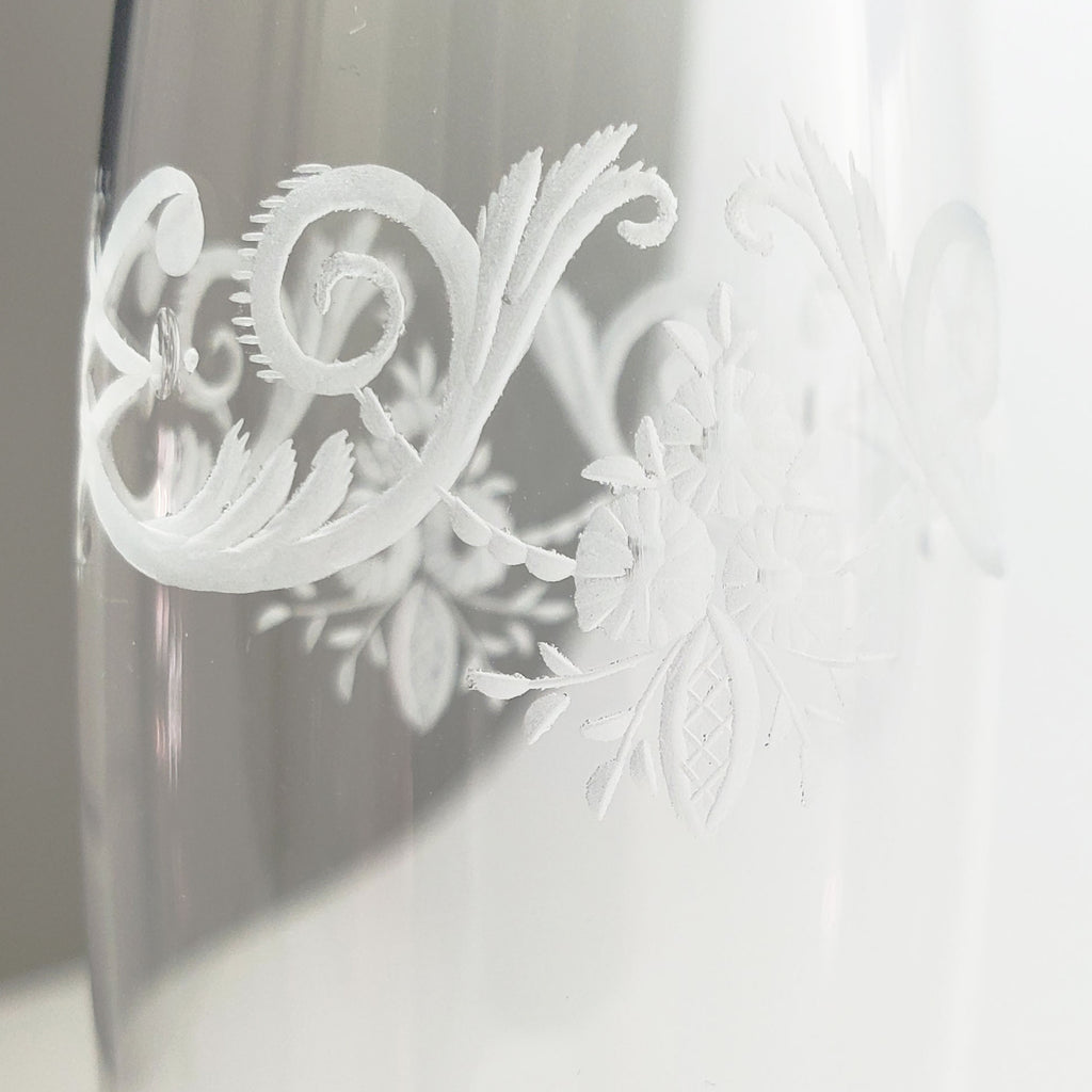 Etched Glass Flower Vase #3231249