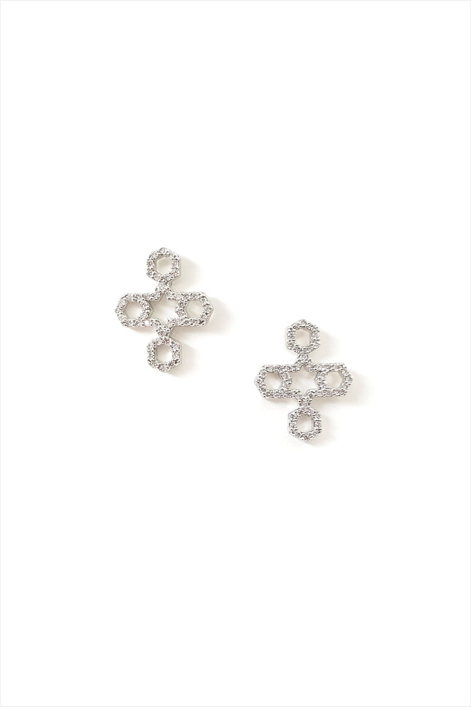 Sheida Farrokhi Eslimi Cross Earrings