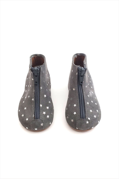 Zipper Boot Grey With Stars