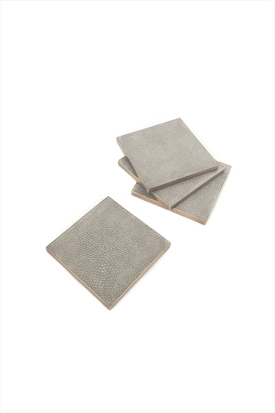 Queen Coaster Blue Gray Shagreen And Bronze