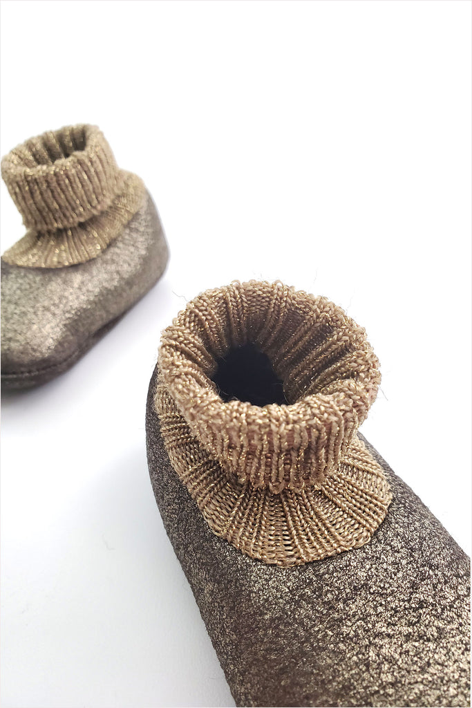 Baby Shearling Bootie Golden Brass