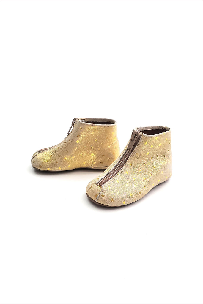 Zipper Boot Golden Fairy Dust