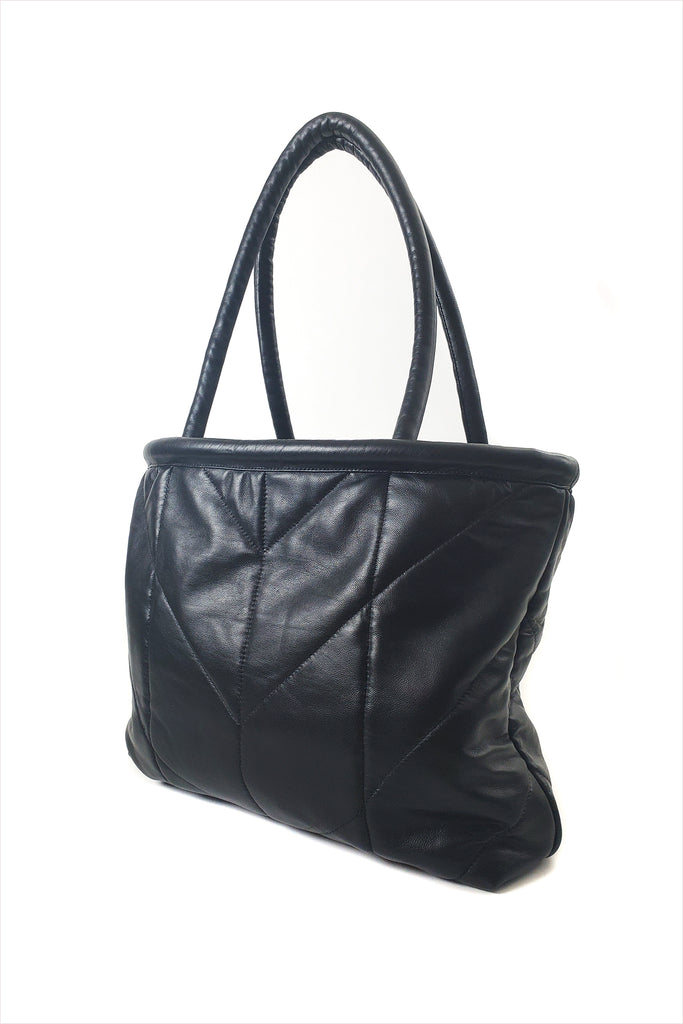 Electric Feathers Enano Calfskin Tote Black