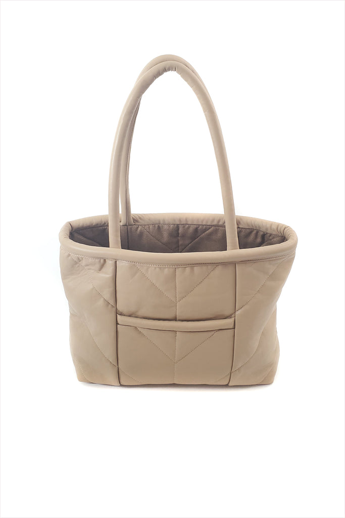 Electric Feathers Enano Calfskin Tote Bone