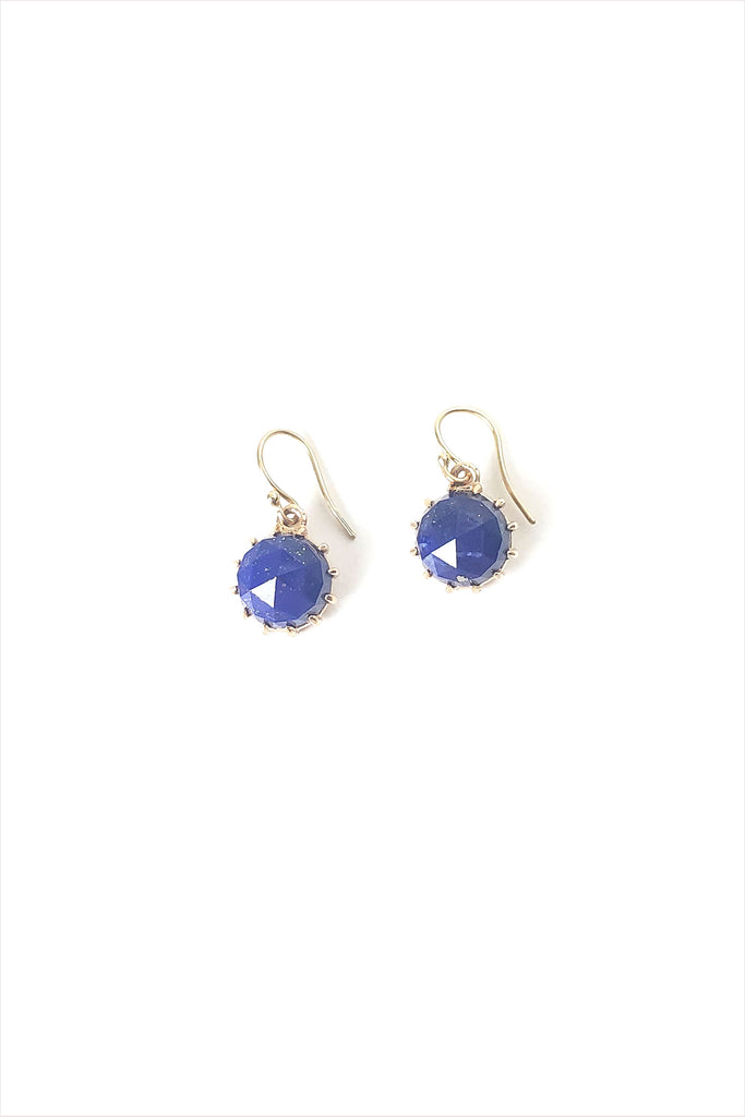 Lapis 14k Gold Earrings
