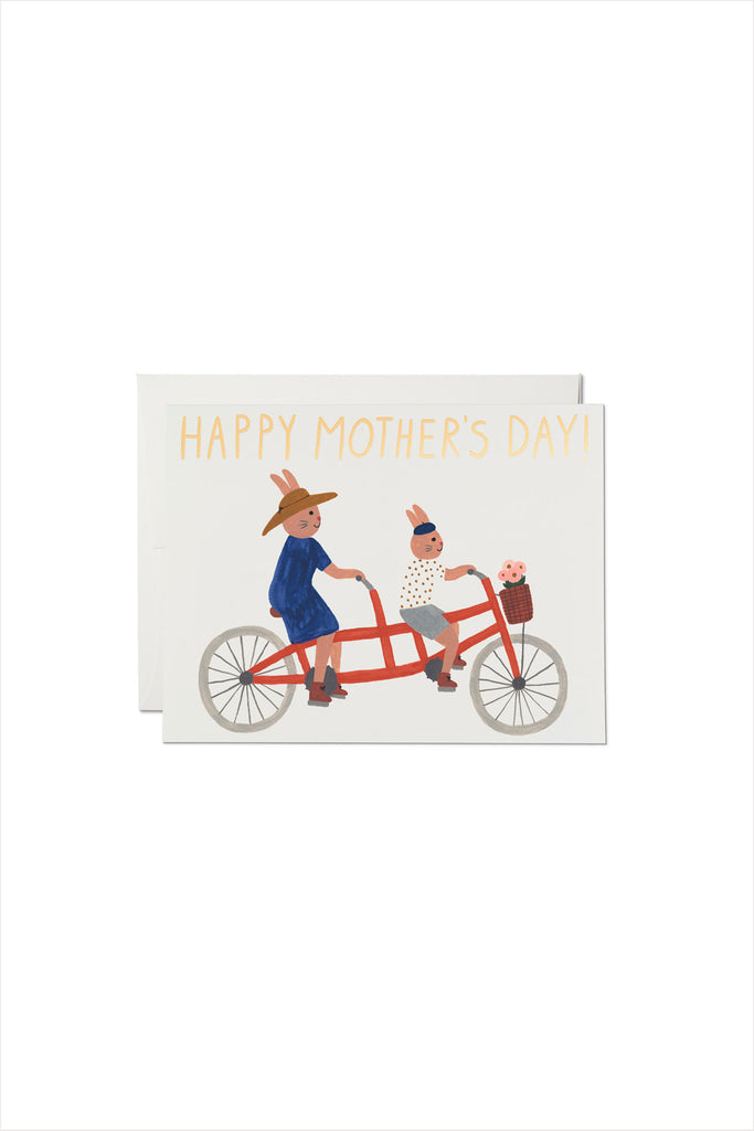 Tandem Bunnies Foil Mother's Day Card