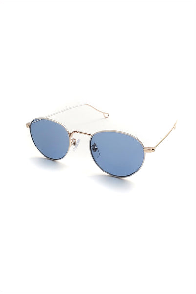 Ciqi Natalie White With Blue Lenses Sunglasses