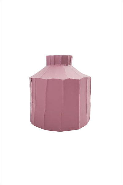 Paola Fide Vase Wide Dark Rose