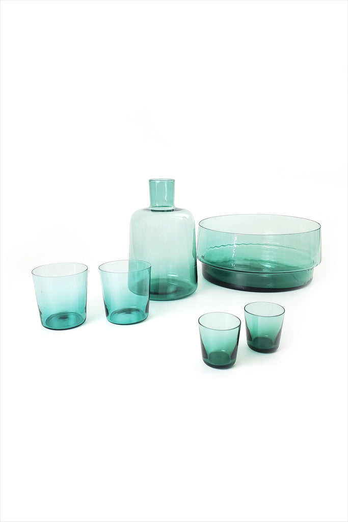 MUN Glassware Medium Glass Green