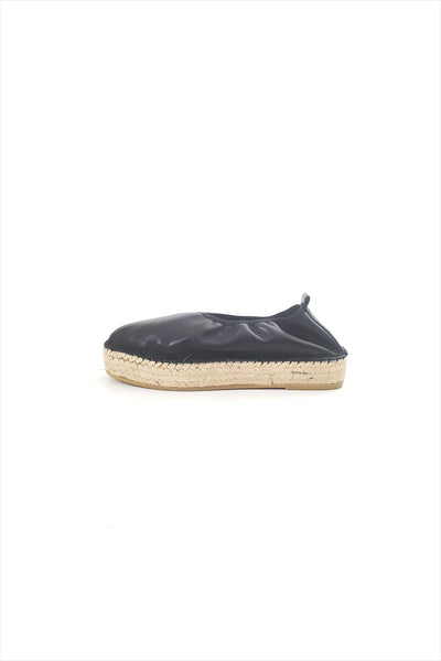 Act. Edvard DS leather Espadrille Black