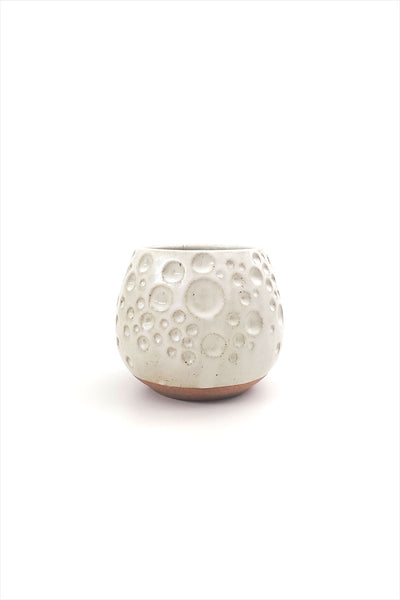Tidepool Carved Planter Small White