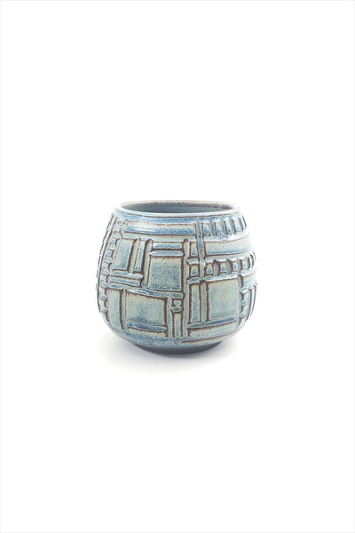 Laguna Carved Planter Small Turquoise
