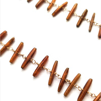 Curtis Steiner Gold Coral Sticks Necklace