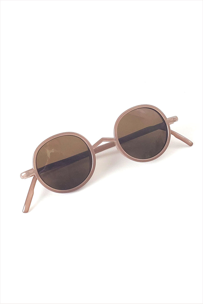 Ciqi Gordon Almond With Brown Lenses Sunglasses