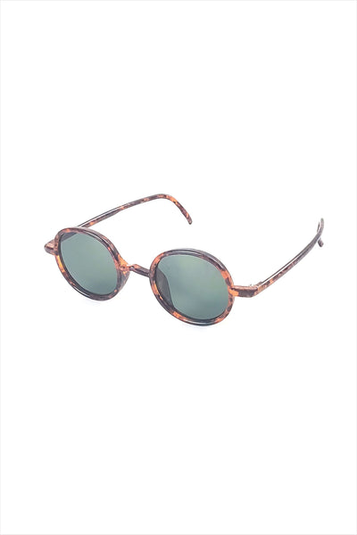 Ciqi Gordon Oak With Green Lenses Sunglasses