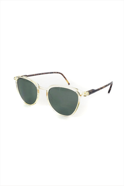 Ciqi Curtis Yellow With Green Lenses Sunglasses