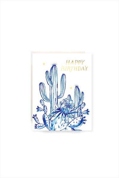 Cactus Garden Birthday Card