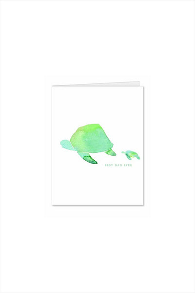 Seat Turtle Dad Fathers Day Card
