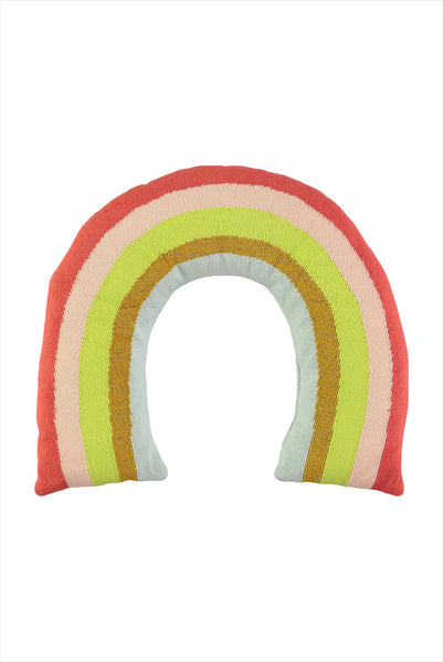 Knitted Rainbow Cushion