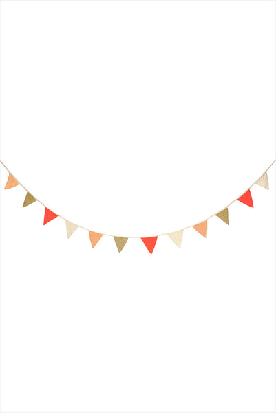 Multi Colour Knitted Flag Bunting