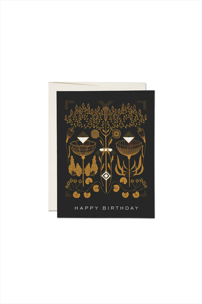 Burnt Umber Birthday Card