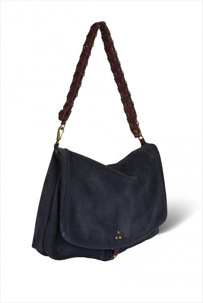 Jerome Dreyfuss Andy S Purse Petrol Split Suede