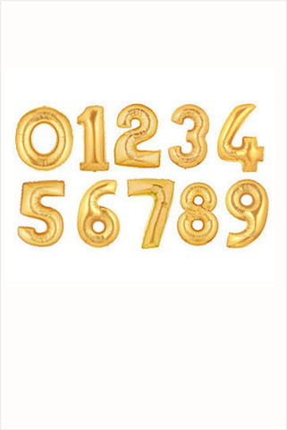 40 Inch Gold Number Balloon