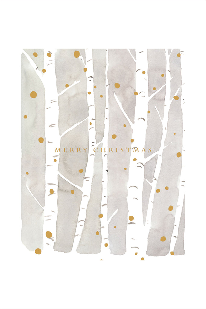 Christmas Birch Card