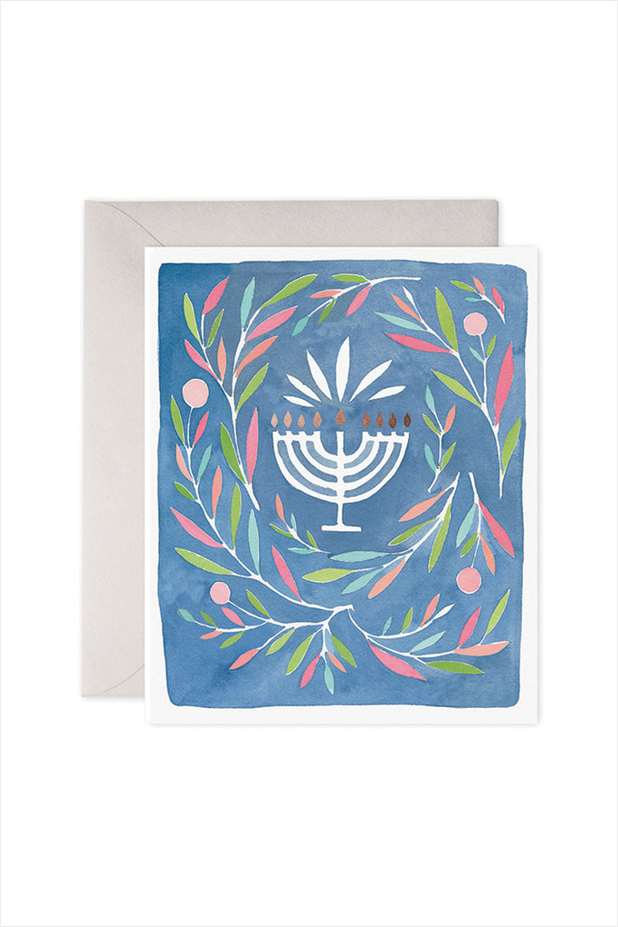 Peaceful Menorah Card