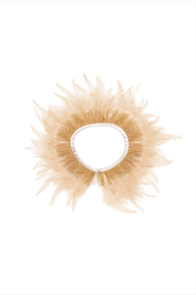 Peach Feather Capelet
