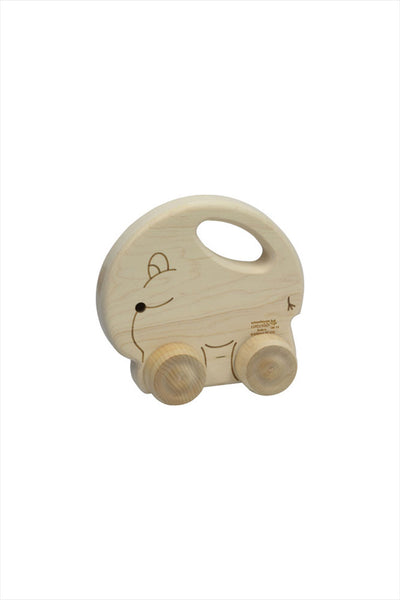 Natural Maple Elephant Push N Pull