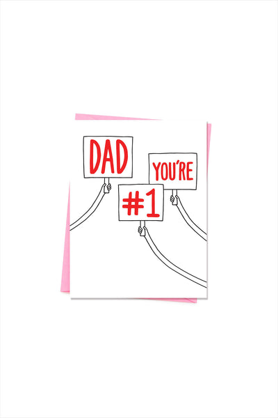 Dad You're #1 Card