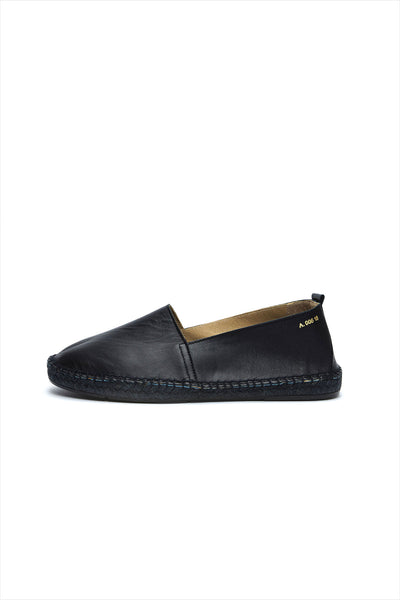 Act. Arven M leather Espadrille Black