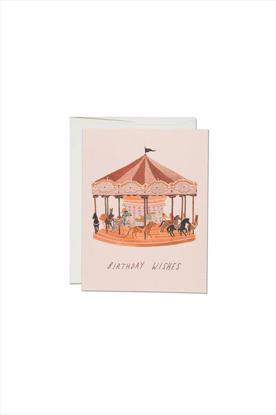 Carousel Wishes Birthday Card