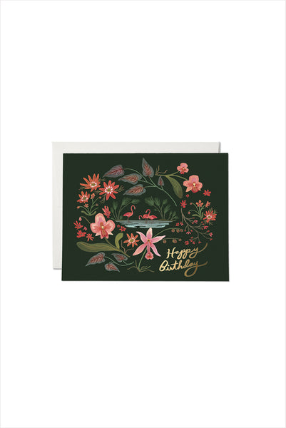 Pink Flamingos Birthday Card