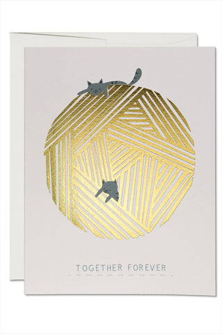String Cats Love Card