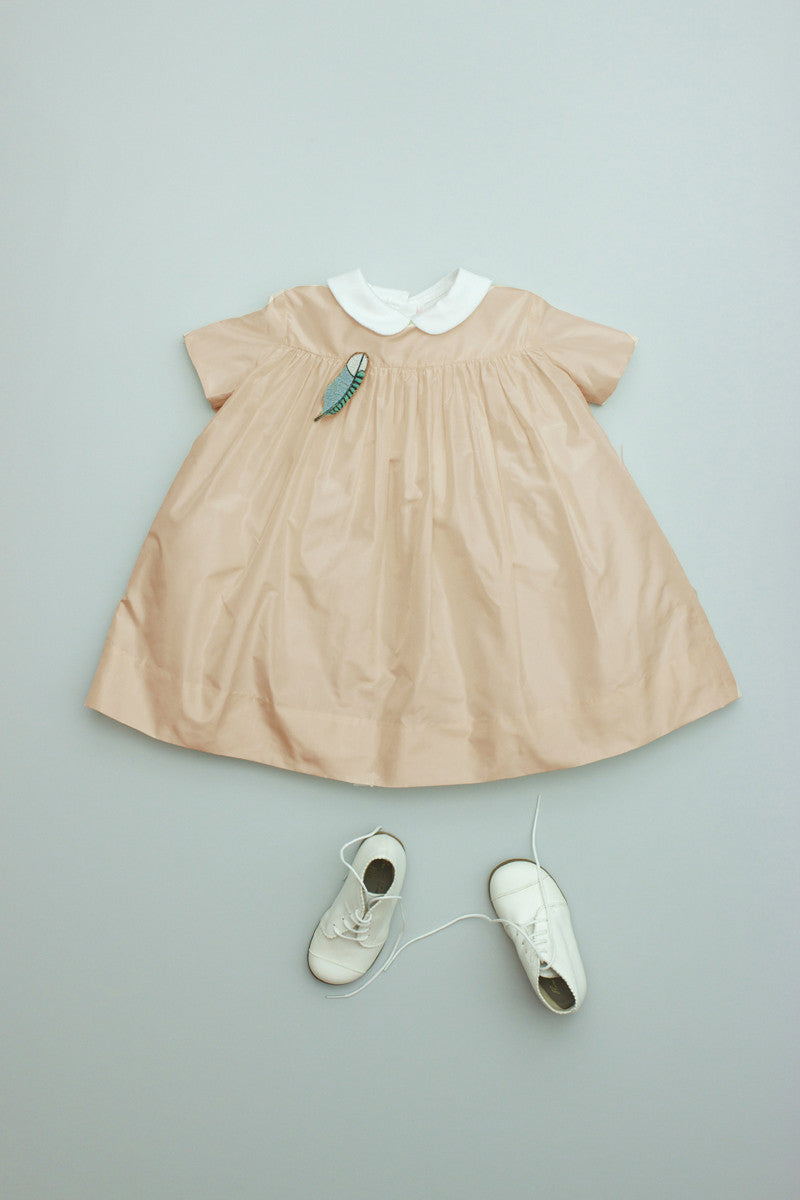 Baby Silk Party Dress Champagne