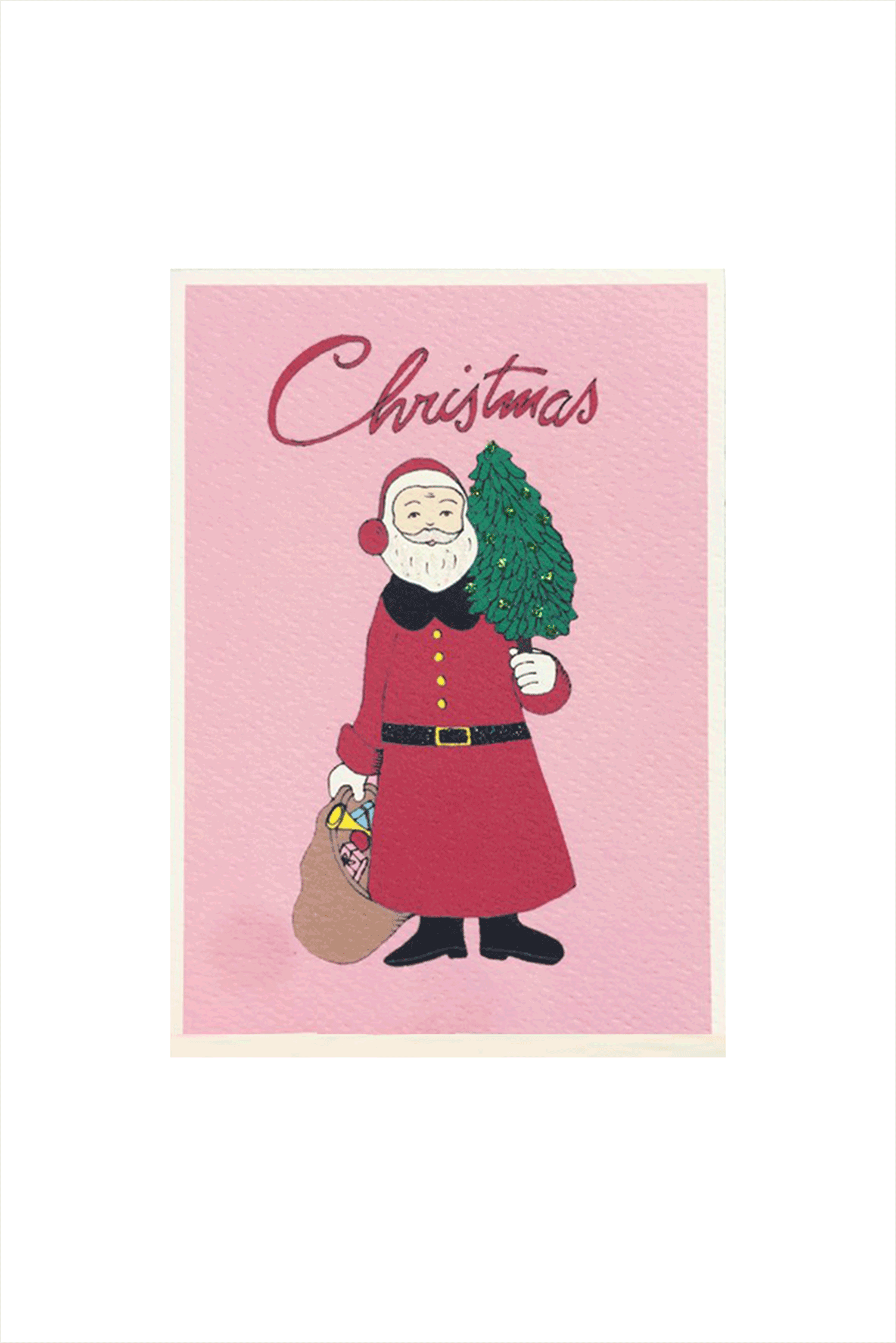 Bright Christmas Card - Santa