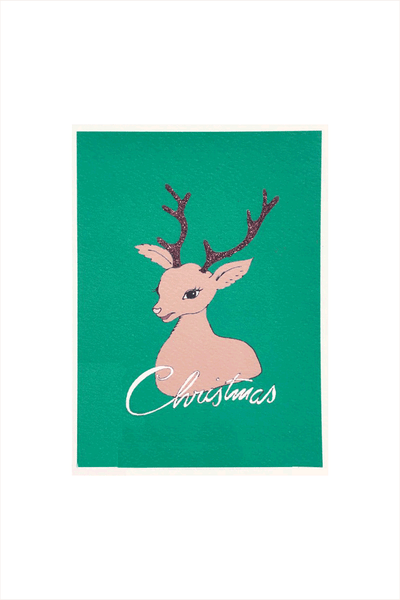 Bright Christmas Card - Reindeer