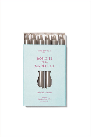 Gray Madeleine Taper Candles