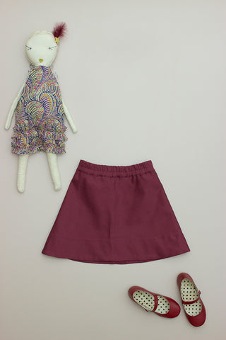 Zipper Skirt Claret