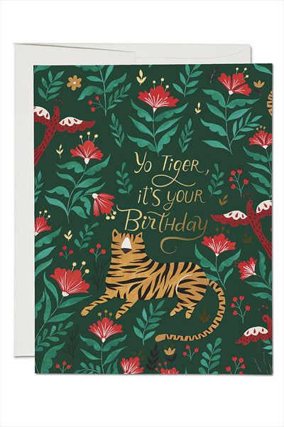 Tiger Foil Birthday Card