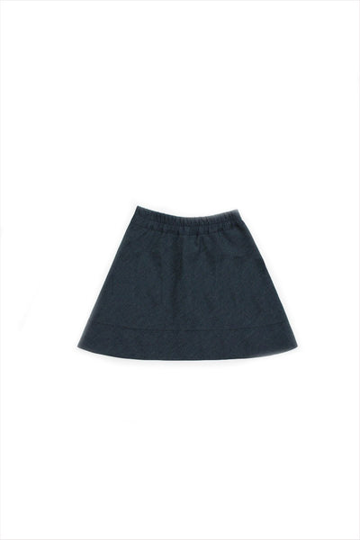 Zipper Skirt Denim