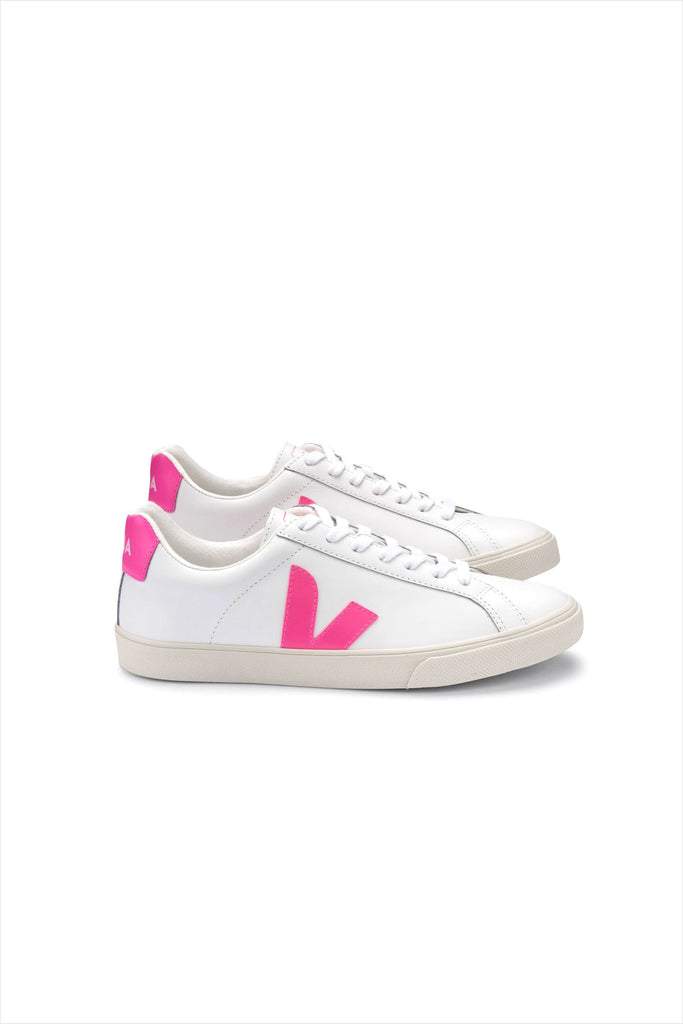 Veja Adult Esplar Leather Sneaker Extra White Sari Pink