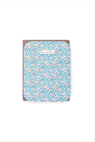 Tiny Baby Neon Floral Card