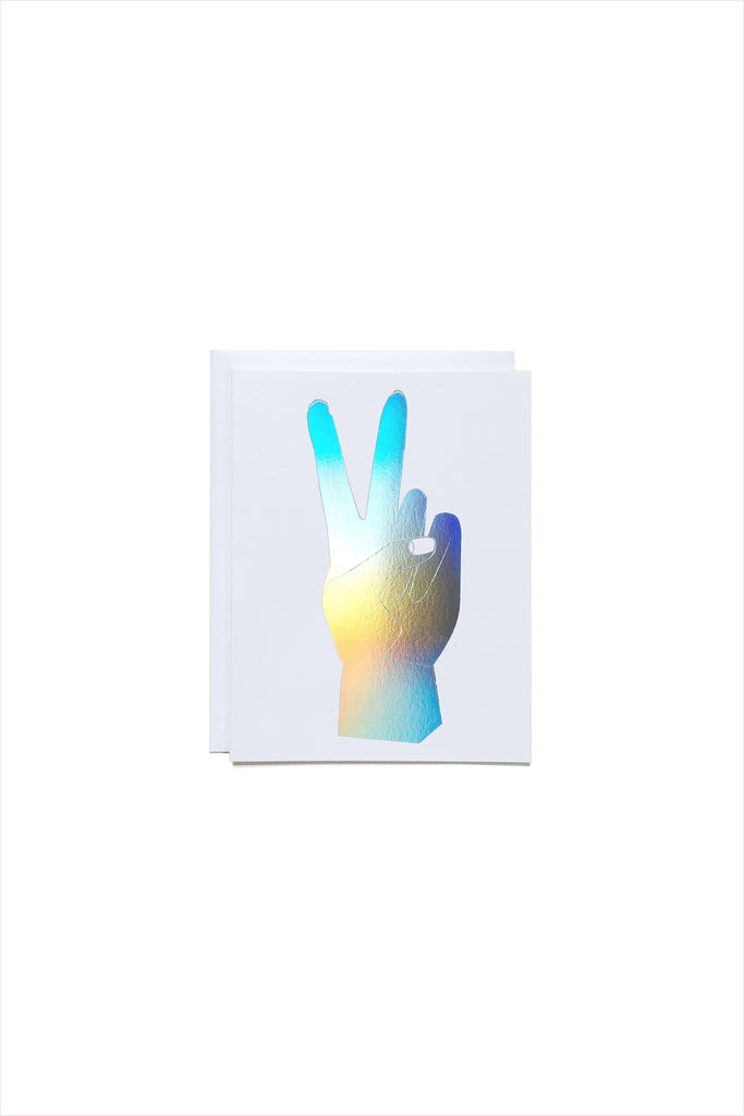 Hologram Peace Hand Card