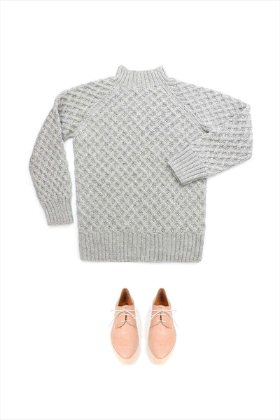 F&H Women's Basketweave Sweater