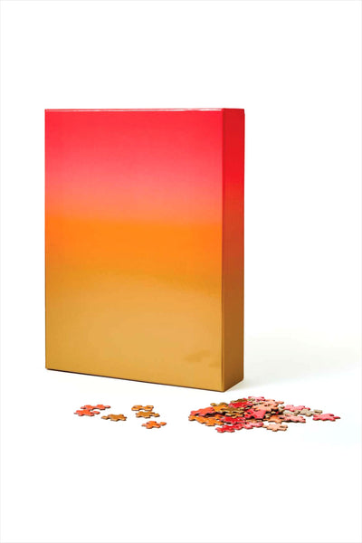 Gradient Puzzle Large Red/Orange/Gold