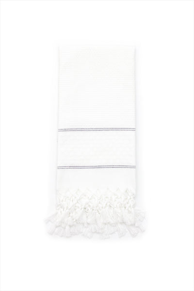 Guest Hand Towel White Polka Dots