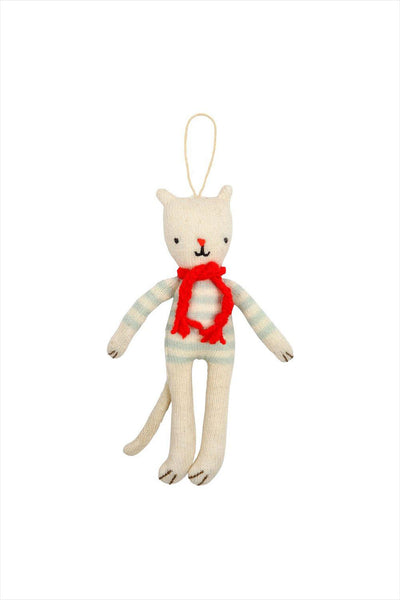 Stripy Cat Ornament Tree Decorations